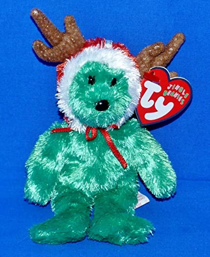 Image Unavailable. Image not available for. Color  Ty Jingle Beanie 2002  Holiday Teddy Bear ... 7b26bcddd6c2