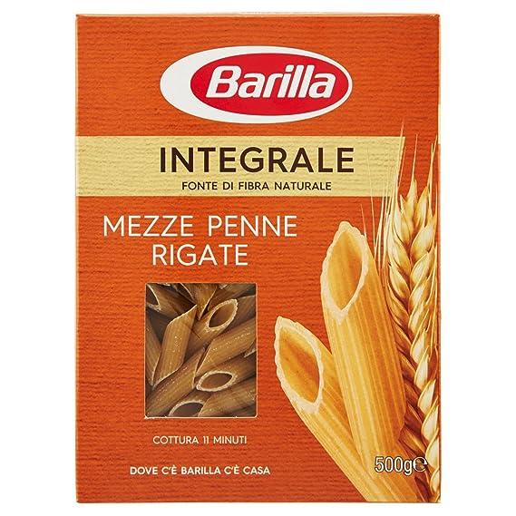 pasta integrale  Barilla Pasta Integrale Mezze Penne Rigate Semola Integrale di Grano ...