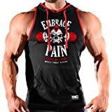 Monsta Clothing Co. Men's (Embrace Pain: Earning My Stripes) Gym Hooded Tank Top