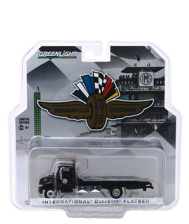 Greenlight International Durastar フラットベッド トラック ブラック インディアナポリス モーター スピードウェイ ホイール ウィング & フラッグ ホビー 限定 1/64 ダイキャストモデル B07RH8XV1X