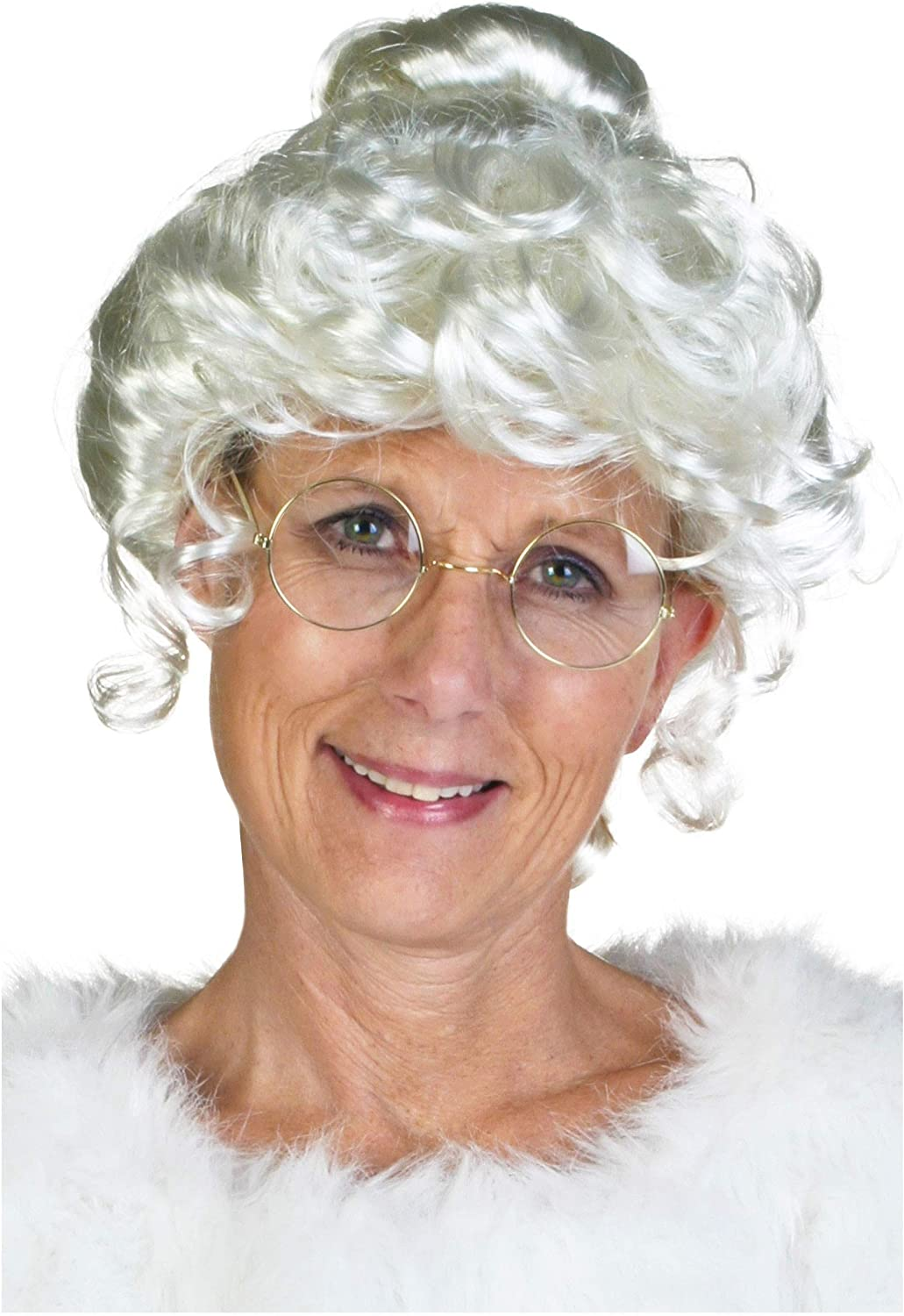 Adult size Deluxe Mrs Santa Claus Wig Christmas Holiday Wear Dress Up fnt