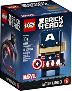 LEGO BrickHeadz Captain America 41589 Building Kit