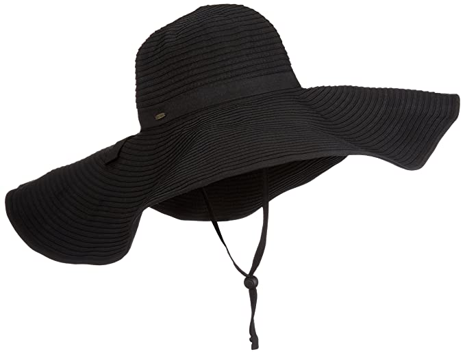 Coolibar UPF 50+ Women s Shapeable Poolside Hat - Sun Protective (One Size-  Black) at Amazon Women s Clothing store  35e70d5868fa