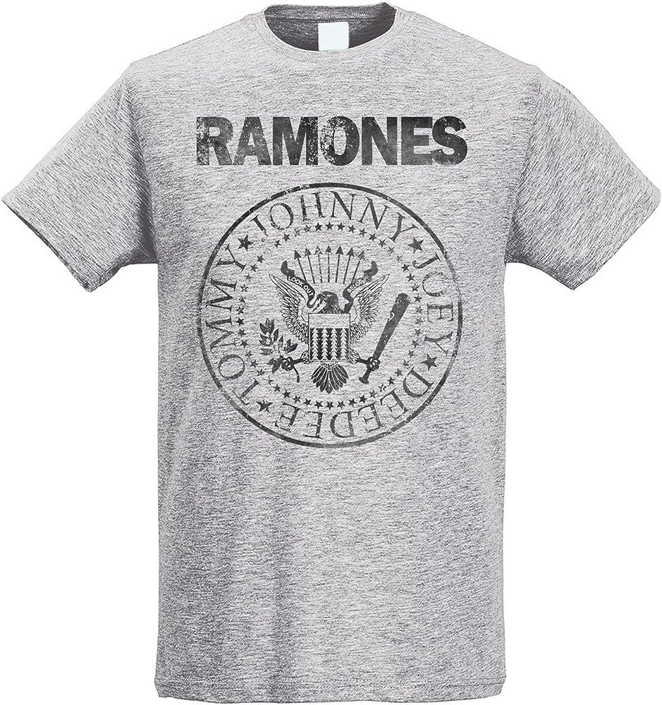 LaMAGLIERIA Camiseta Hombre Slim Ramones Grunge Black Print - Camiseta Rock 100% algodòn Ring Spun, S, Gris: Amazon.es: Ropa y accesorios