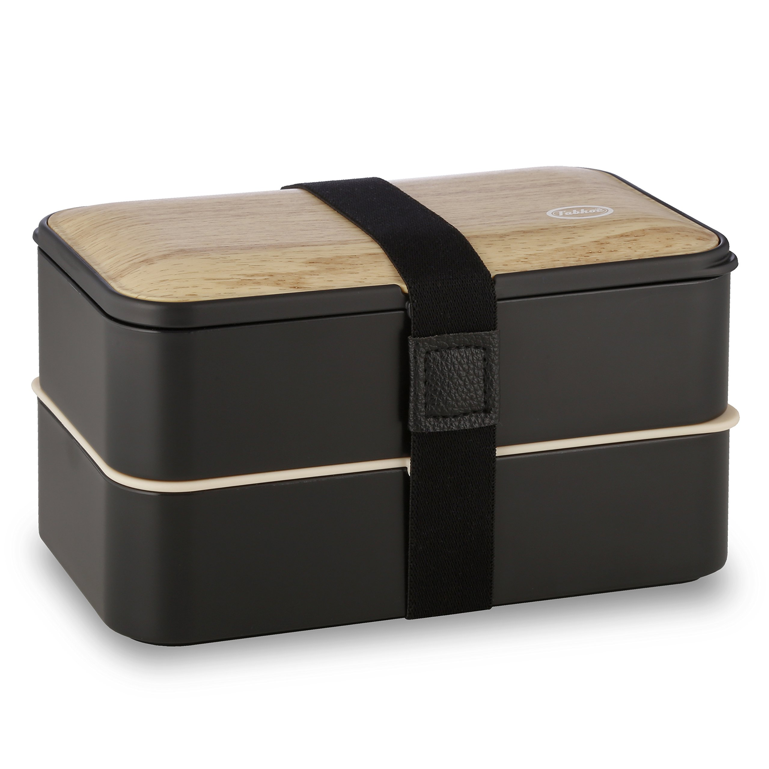 Tabkoe Bento Lunch Box Stackable Meal Prep Food Storage Containers Set, Reusable, Microwavable, BPA-Free, Freezer-Safe, Dishwasher-Safe, Insulated 2-Tier Snack Boxes with Leak-Proof Lids & Cutlery