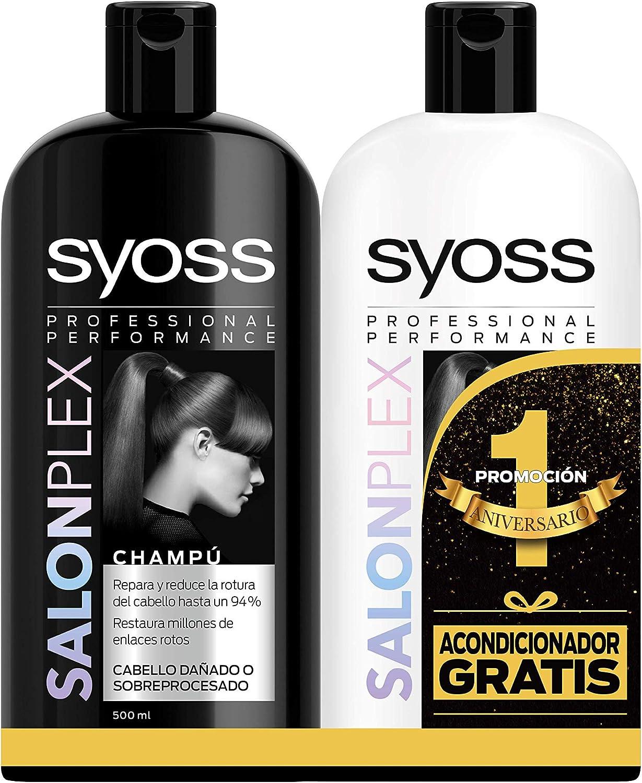Syoss Champú 500 ml + Acondicionador Salon Plex 500 ml, Pack de 1