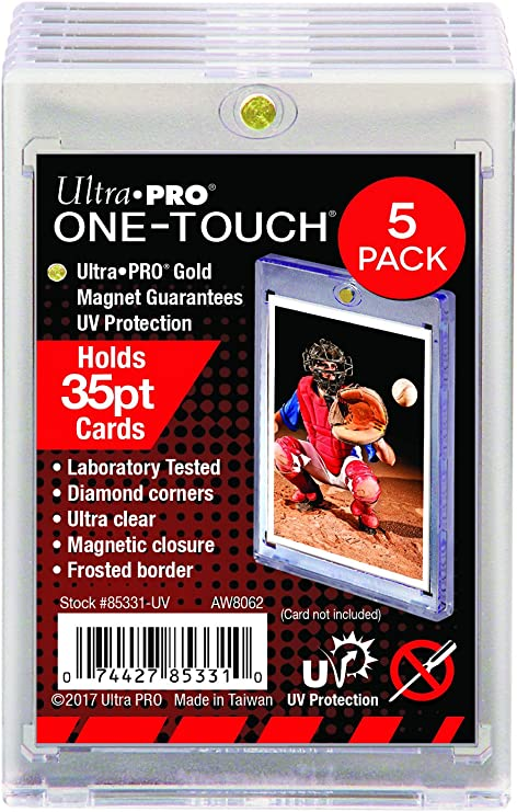 One 1 75pt Ultra Pro One-Touch Magnet Card Holder for Thicker Baseball and other Trading Cards by Ultra Pro