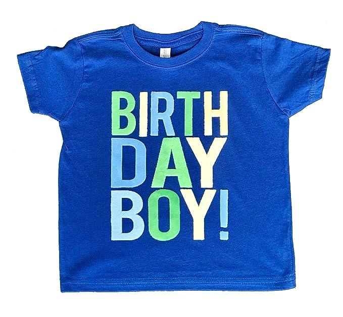 SoRock Birthday Boy Toddler Kids T Shirt Royal Blue Youth X Small