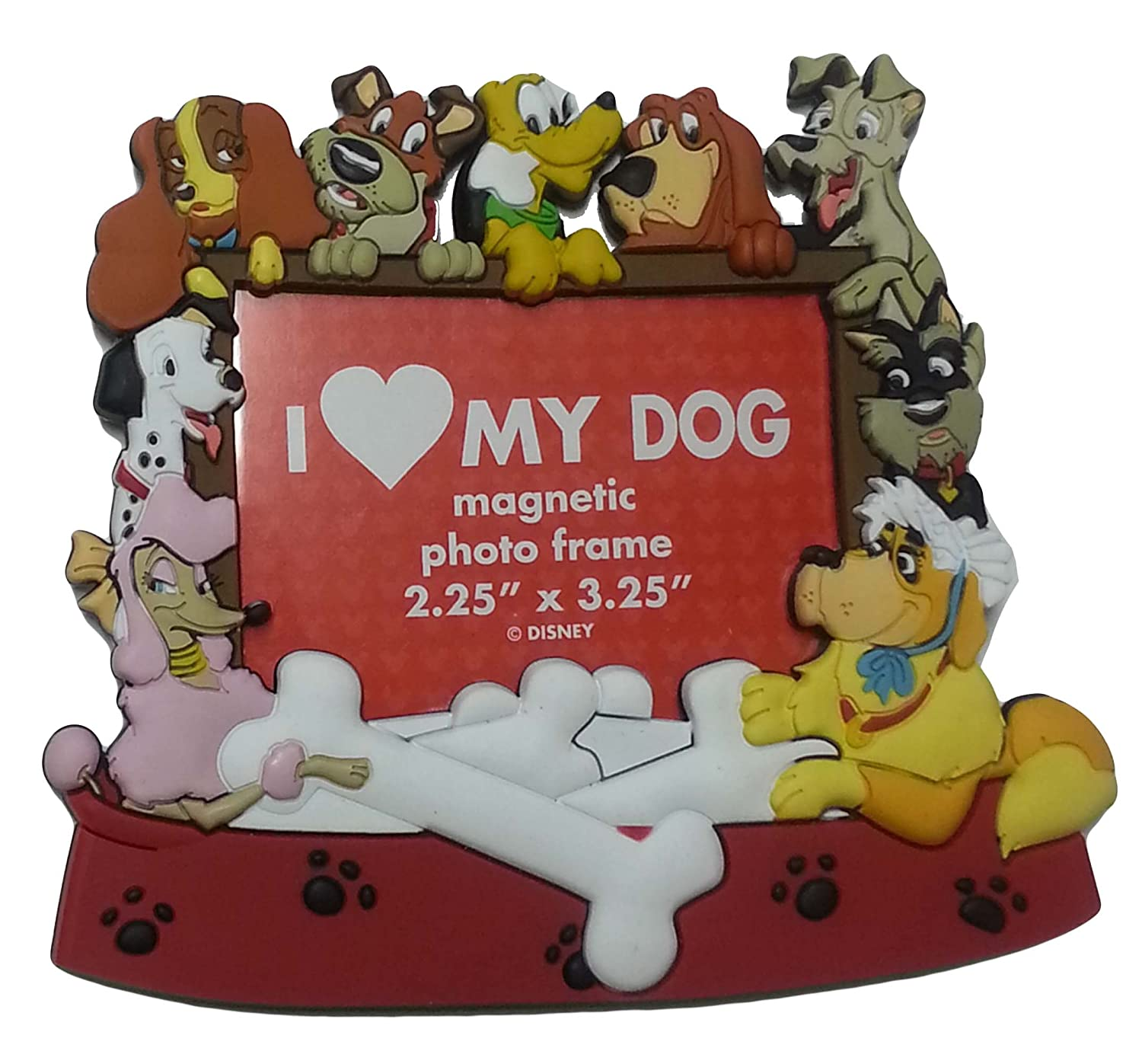 Amazon.com: Disney Parks - I Love My Dog Magnetic Photo Frame: Home ...