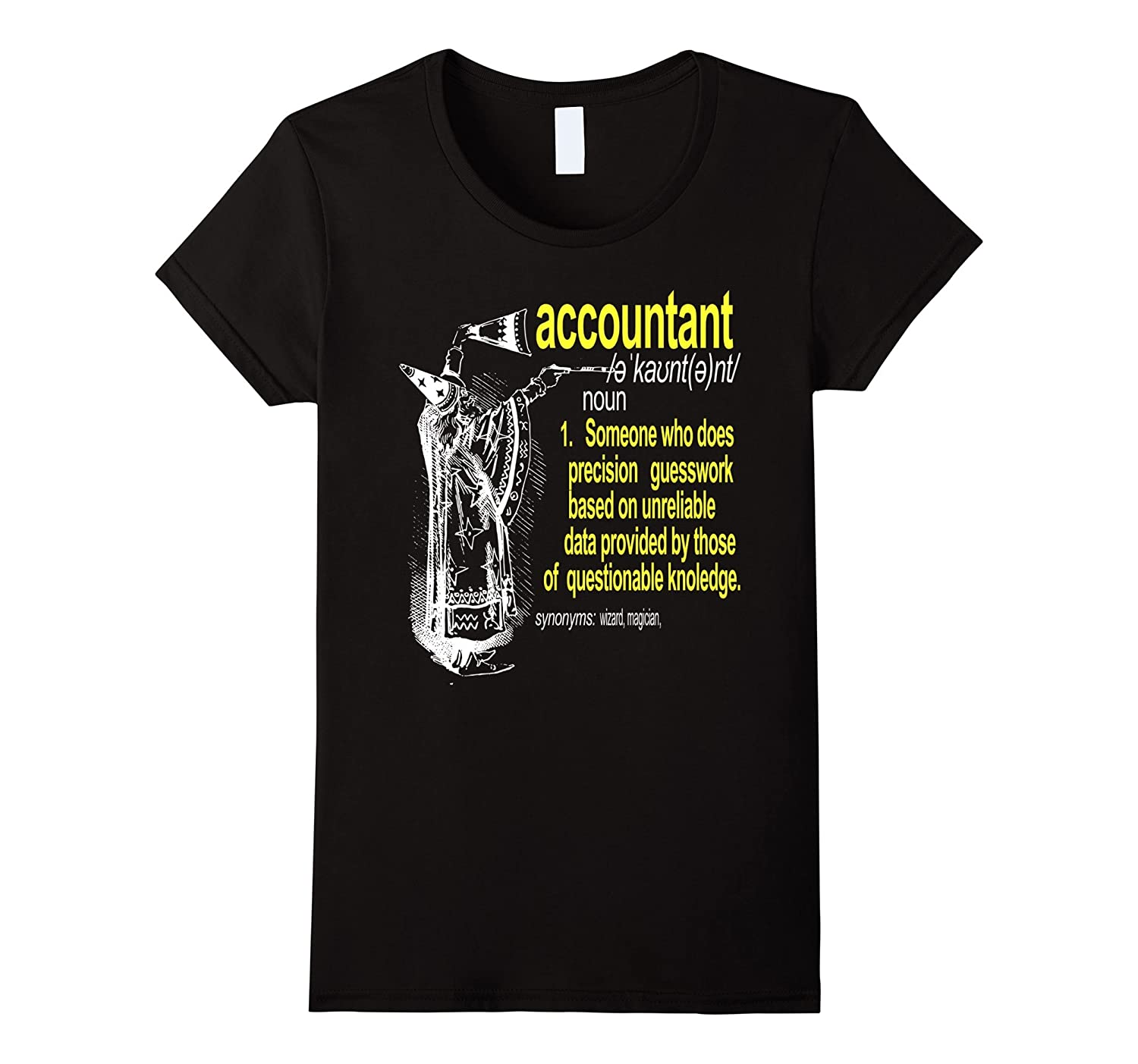 Accountant Meaning T Shirt, Accountant funny Noun Definition