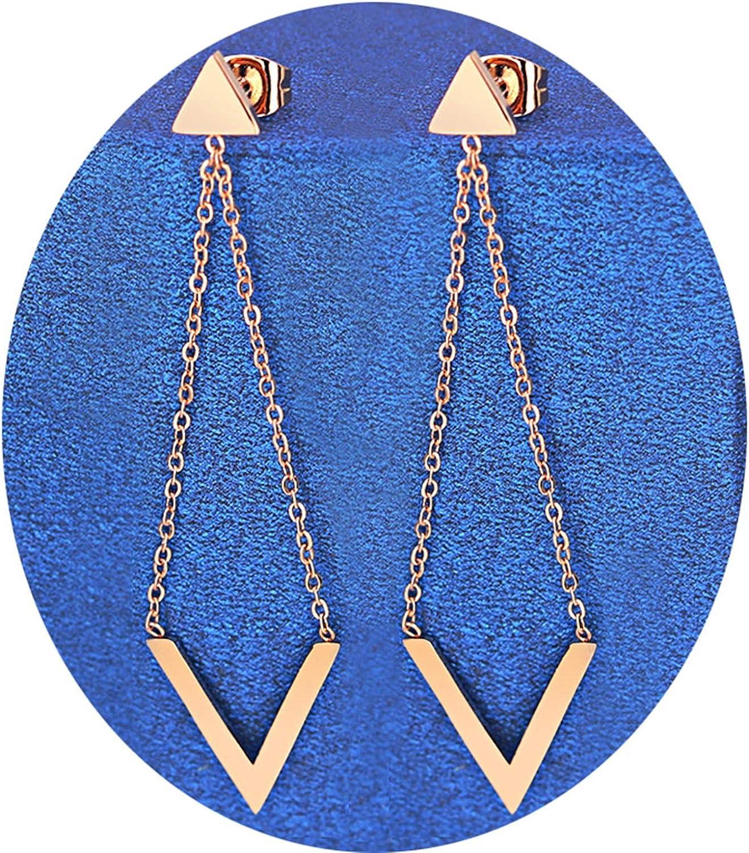 AnazoZ Pendientes Mujer Pendientes Triangular Pendientes Acero Inoxidable Aros