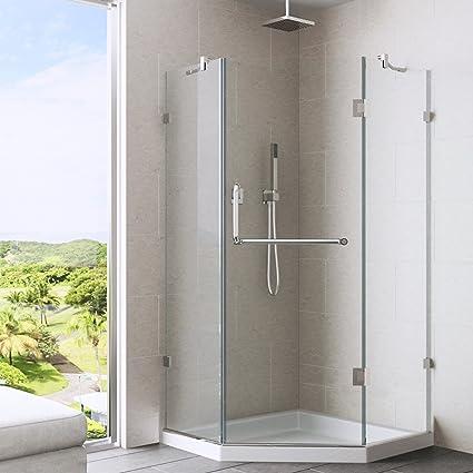 Vigo Piedmont 40 X 40 In Frameless Neo Angle Shower Enclosure With