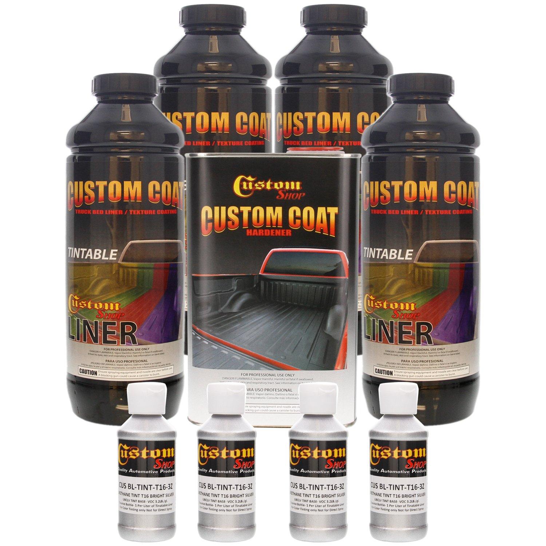 Amazon.com: Custom Coat BRIGHT SILVER 4 Liter Urethane Spray-On ...