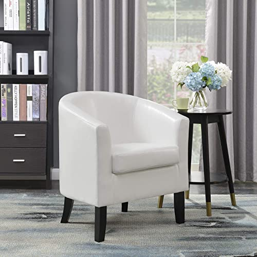 BELLEZE Club Chair Tub Faux Leather Armchair Seat Accent Living Room