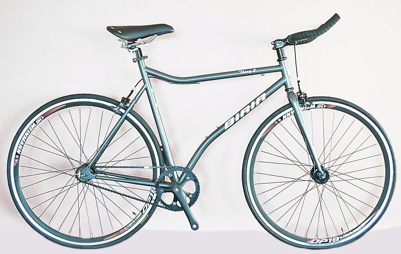 固定ギア/シングルスピードバイク Weinmann DP18リム付き自転車 ブルホーン ハンドルバー クロモリシートチューブ Tektro キャリパーブレーキ 水銀 グレー   B00SK95SNM