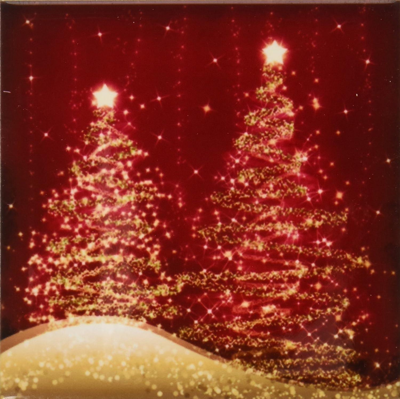 3drose Cst 35705 4 Elegant Christmas Sparkling Trees Red Ceramic Tile Coasters Set Of 8 Home Kitchen Amazon Com