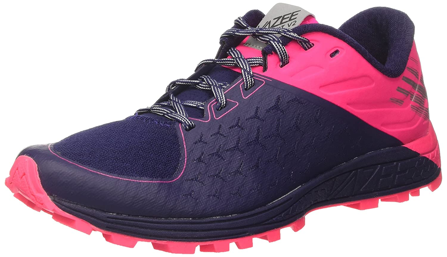 New Balance Women's Vazee Summit V2 Running Shoe Trail Runner B01LZL82M9 6 D US|Dark Denim/Alpha Pink