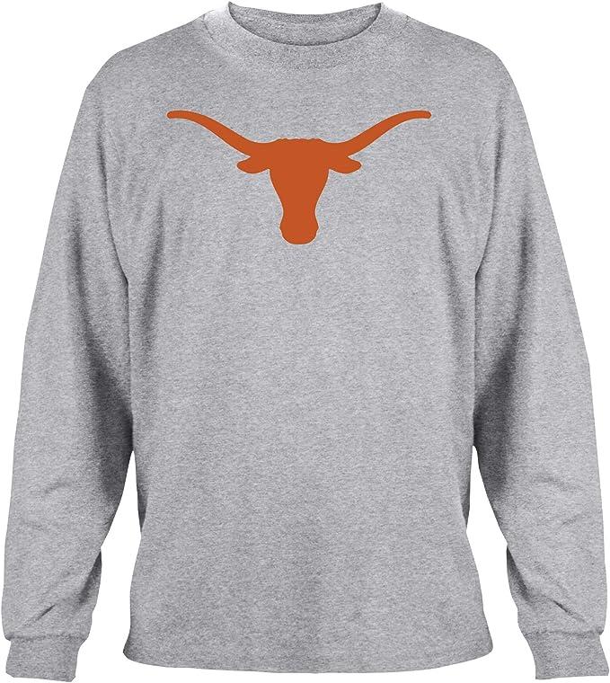 Texas Longhorns Mens gris silueta por 289 C prendas de vestir camisa de camiseta de manga larga, gris: Amazon.es: Deportes y aire libre