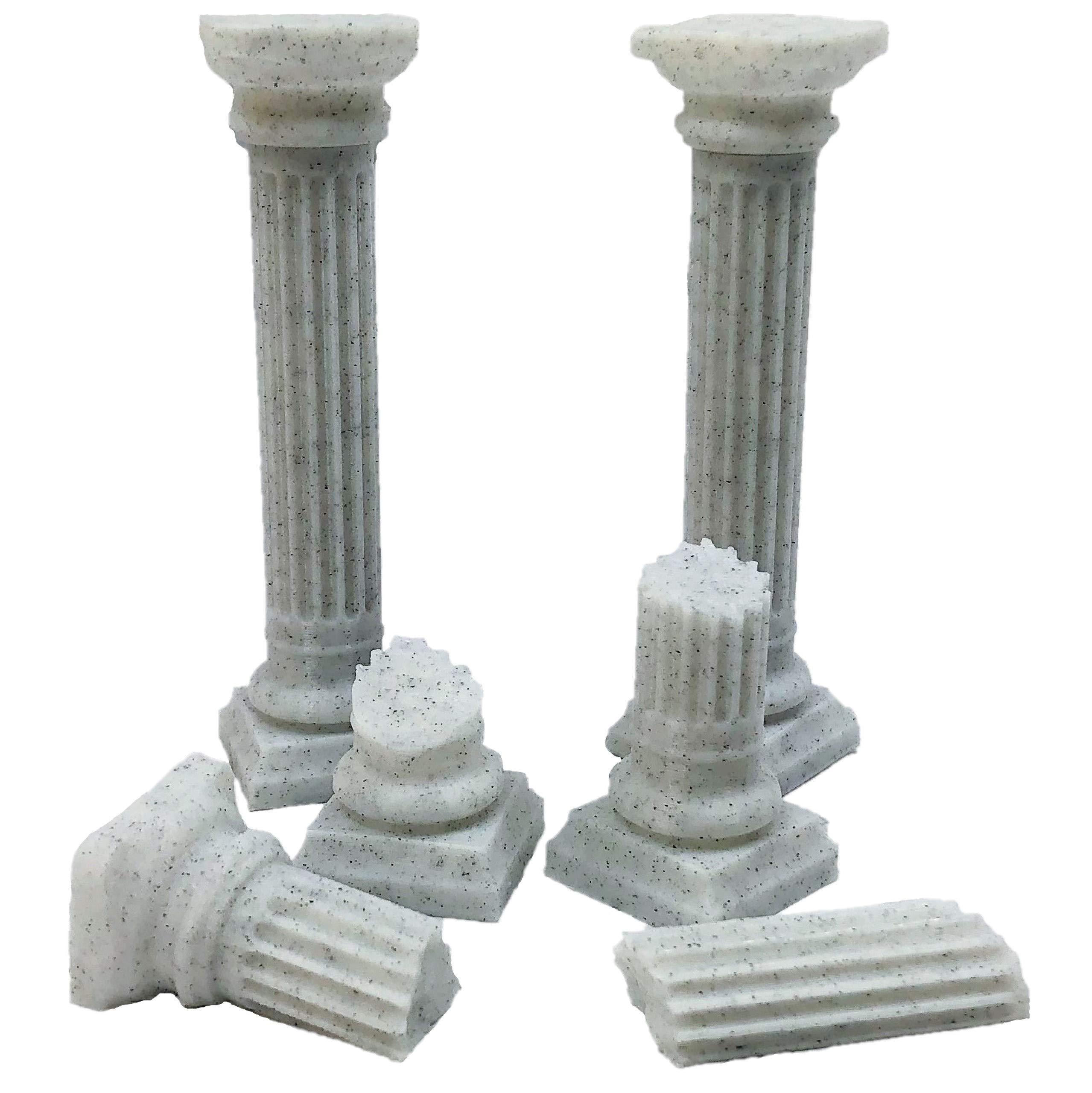 Roman Pillar Set - 28mm Gaming Terrain by Extruded Gaming