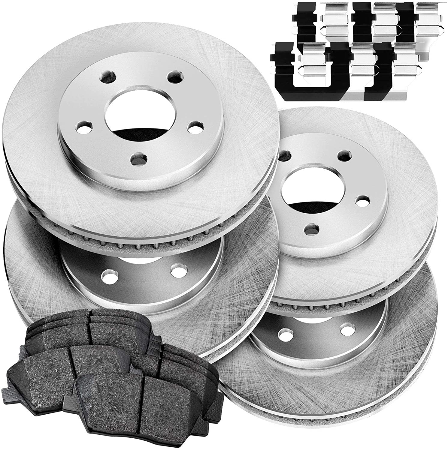 Full Kit Replacement Brake Rotors and Ceramic Brake Pads BLBC.44176.02
