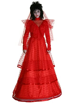 Amazon.com: Plus Size Red Gothic Wedding Dress Costume: Clothing