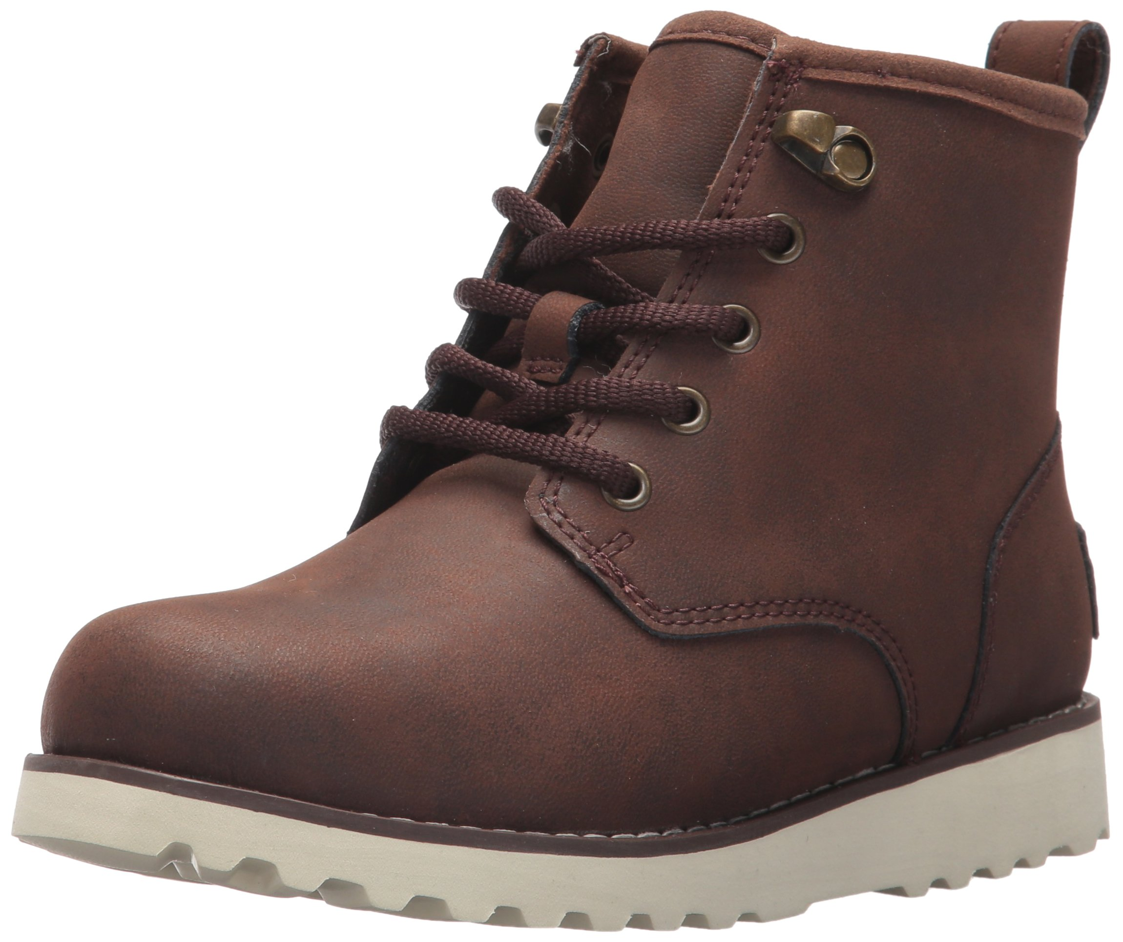 UGG Boys K Maple II Lace-up Boot, Mahogany, 10 M US Toddler