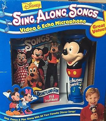Amazon Com Disneyland Fun W Mickey Microphone Vhs Disney Sing
