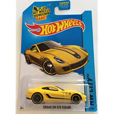 Hot Wheels 2015 HW City Ferrari 599 GTB Fiorano 21/250, Yellow: Toys & Games
