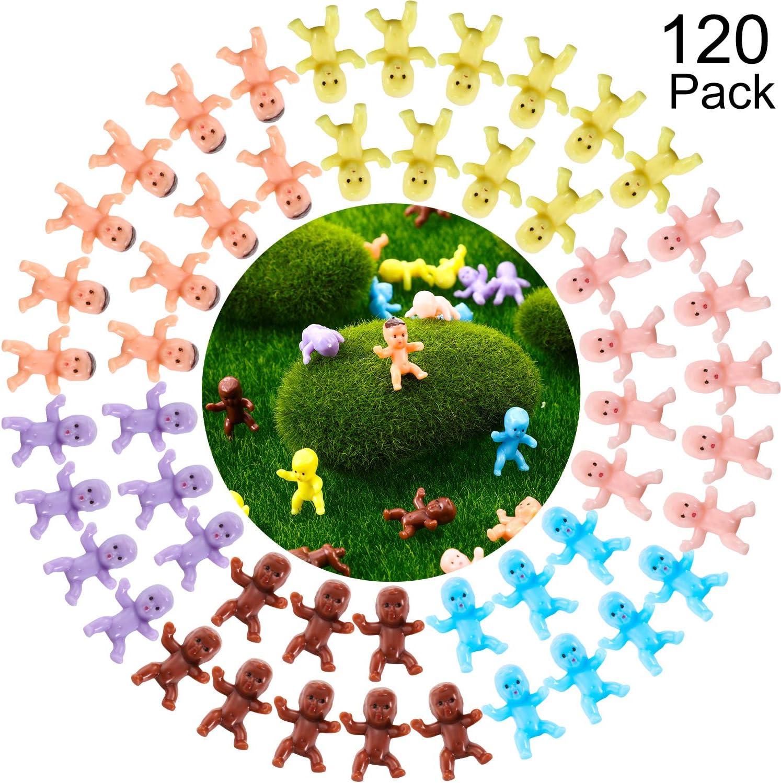 120 St/ück Mini Plastik Babys Baby Party Party Favor Eisw/ürfel Spiel Party Dekorationen Baby Baden und Basteln Dunkelbraun, Latein, Rosa, Gelb, Lila, Blau
