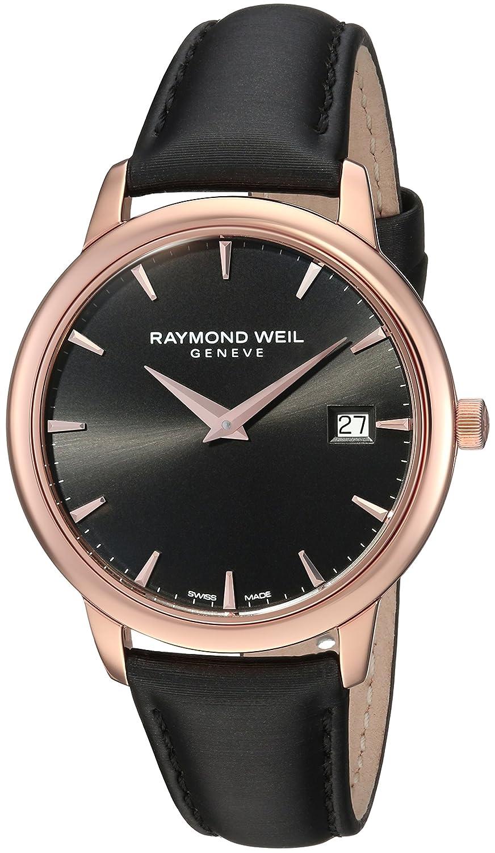 Raymond Weil Women s Toccata Stainless Steel Swiss-Quartz Watch with Satin Strap, Black, 20 Model 5388-PC5-20001