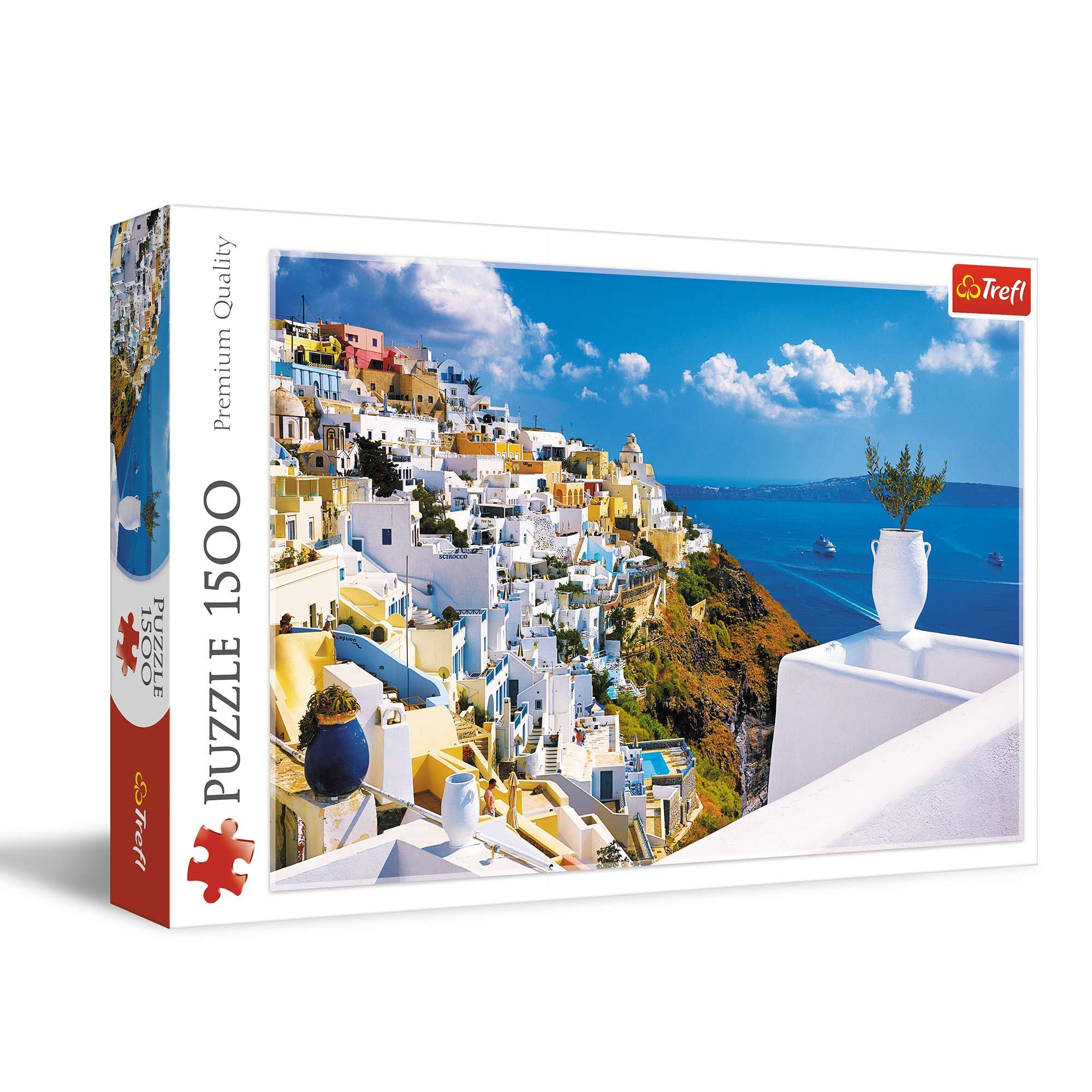 Trefl 1500 Piece Jigsaw Puzzle Santorini, Greece, Multicolor