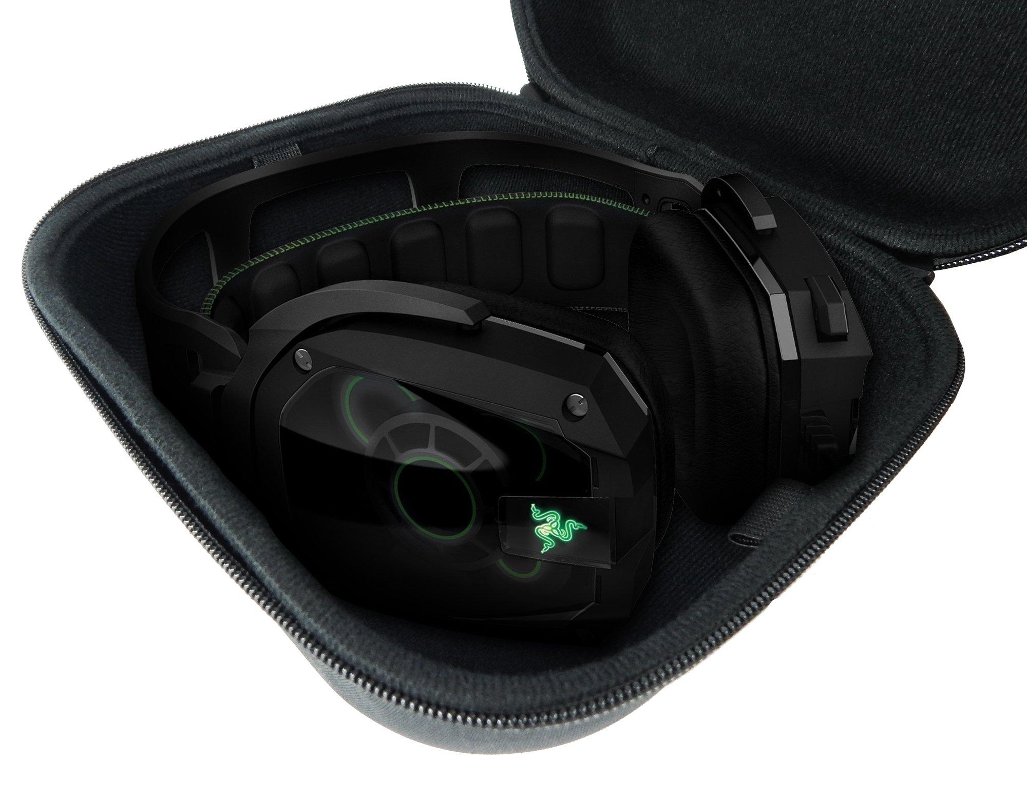 CASEMATIX Travel PC , MAC USB Gaming Headset CarryCase Bag – Fits Razer Kraken Pro 7.1 Chroma , Razer ManO'War , Tiamat , Overwatch ManO'War Tournament Edition Wired or Wireless headphones