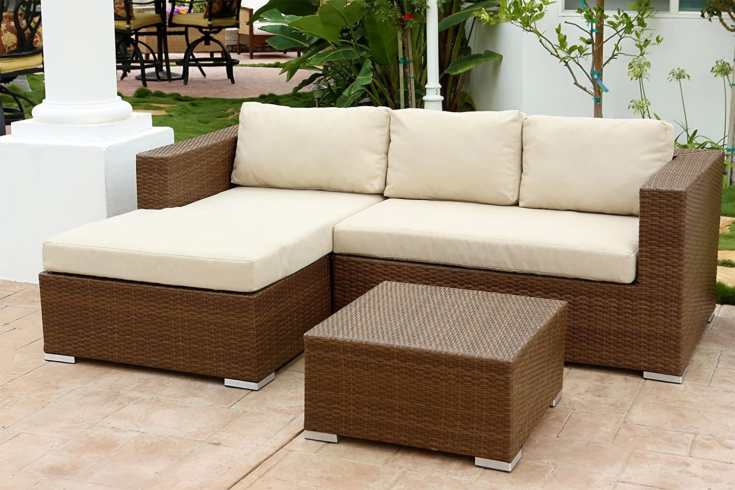 for versus sofa wicker great black coffee white wonderful patio like and table with sectional natural set garden cushion round furniture outdoor synthetic