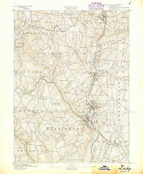 Topographic Map Ct.Amazon Com Yellowmaps Derby Ct Topo Map 1 62500 Scale 15 X 15