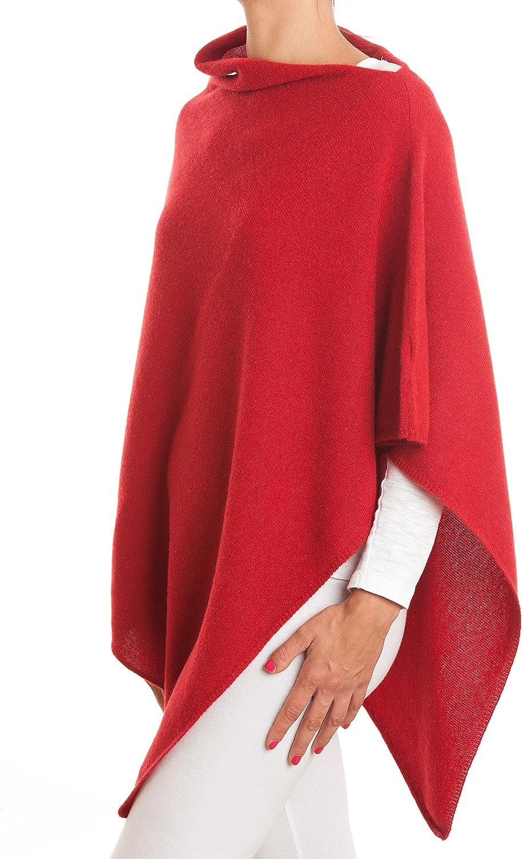 Woman DALLE PIANE CASHMERE Poncho 100/% Cashmere