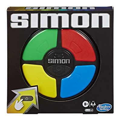 Simon Game; Electronic Memory Game for Kids Ages 8 and Up; Handheld Game with Lights and Sounds; Classic Simon Gameplay: Toys & Games [5Bkhe1000890]