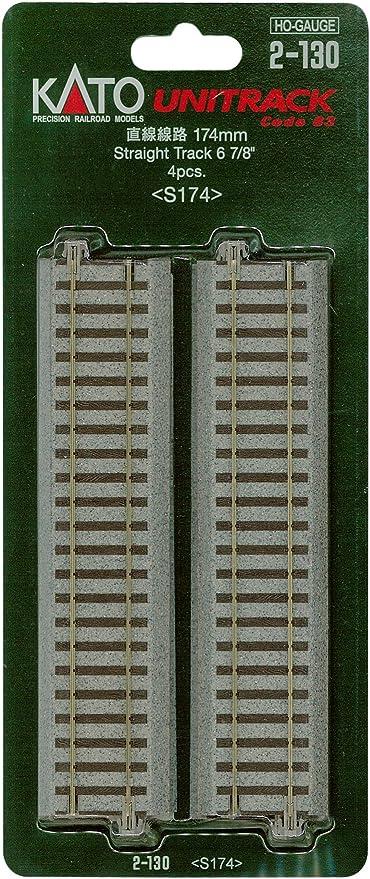 Kato 2-142 HO Unitrack 123mm 4 7//8in Road Crossing and Rerailer 2pcs