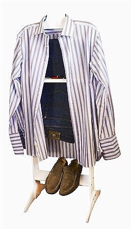 Liza Line Valet de Chambre (Blanc), Valet de Nuit, Porte Vêtements ...