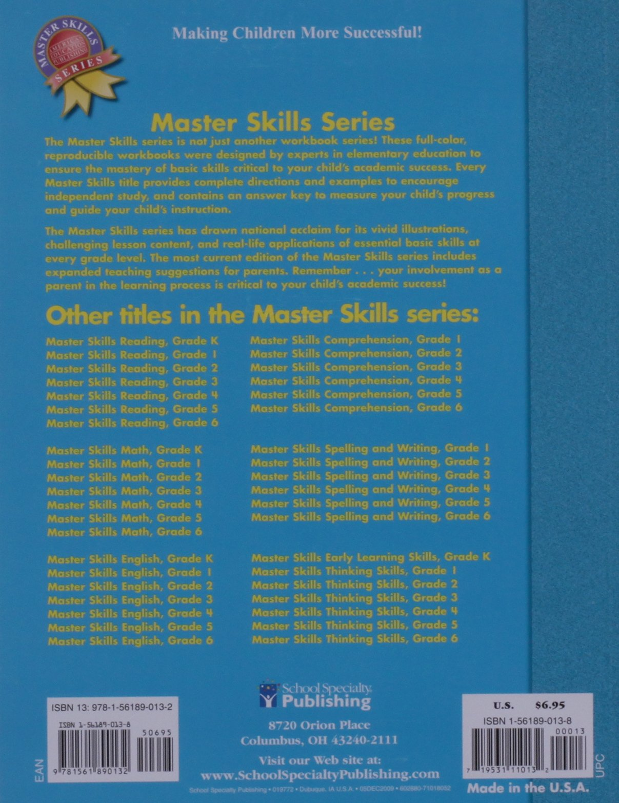 Master Skills Math, Grade 3: School Specialty Publishing ...