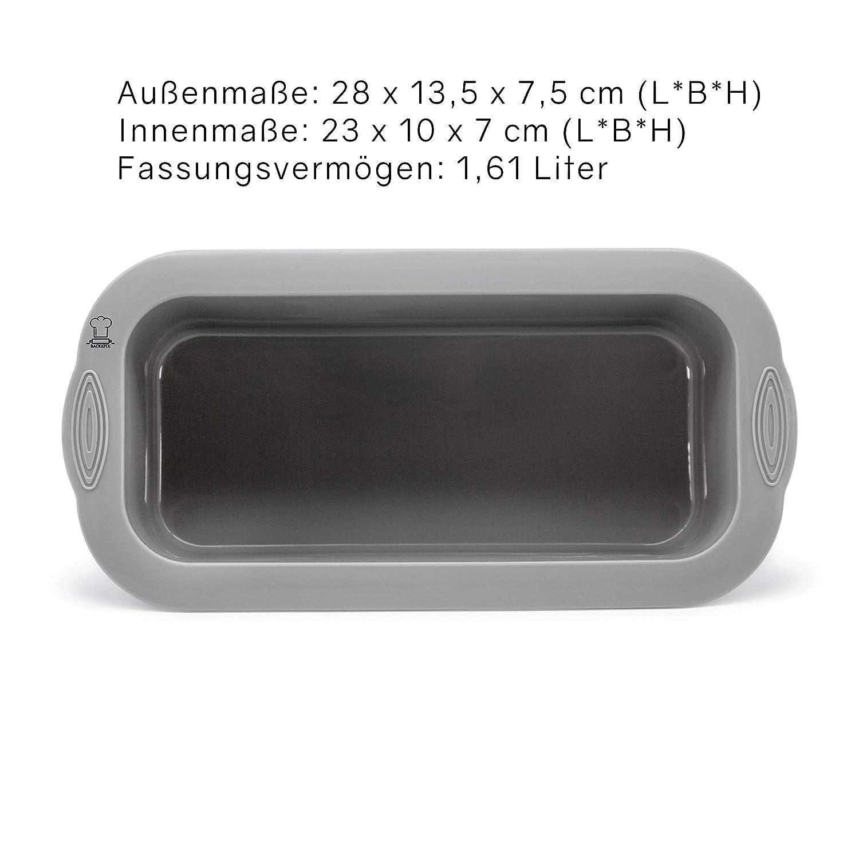 Backefix Brotbackform mittelgro/ße Kastenform f/ür 750g Brote antihaftende Brotform Kuchenform 23cm