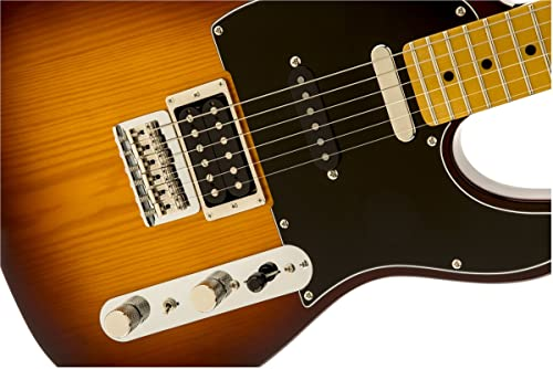 Fender Modern Player Tele Plus Electric Guitar, Honey Burst, Maple Fretboard