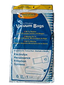 72 Electrolux Renaissance Micro Filtration Style R Vacuum Bags + 12 Filters, Epic 8000 GUARDIAN SERIES LUX 9000 Vacuum Cleaners