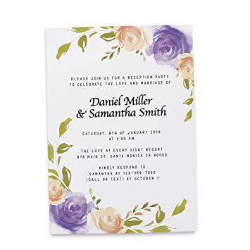 Amazon Com Floral Wedding Invitation Cards By
