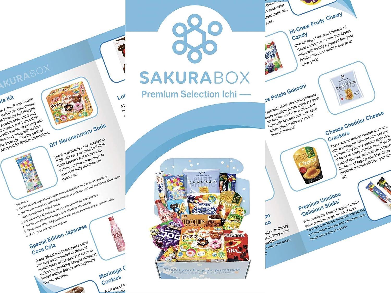 Sakura Box Premium Selection Japanese Candy Chocolate Snacks Drink (Ichi)