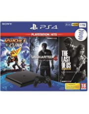 PlayStation 4 (PS4) - Consola de 1 TB + Uncharted 4, Ratchet & Clank + The Last Of Us