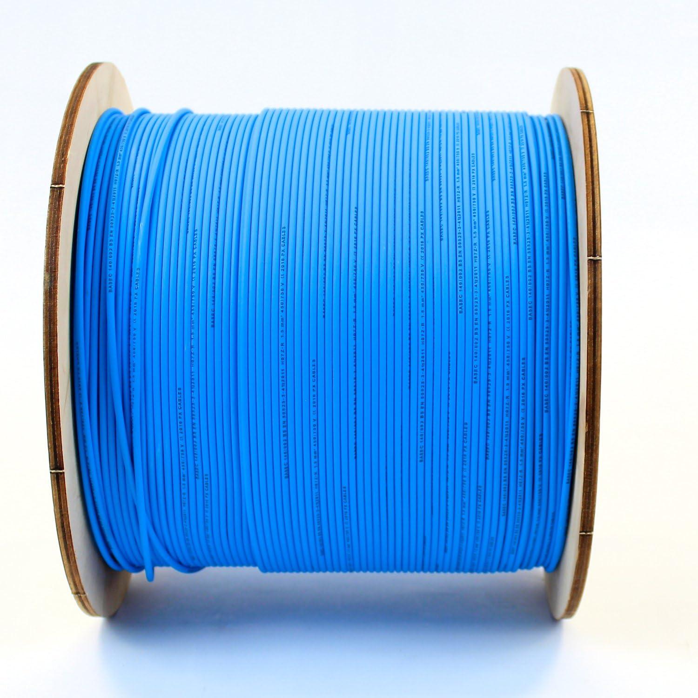 Bleu vif Rouleau complet ou diverses tailles disponibles marron neutre C/âble mono-conducteur 6491X de 6/mm jaune et vert terre