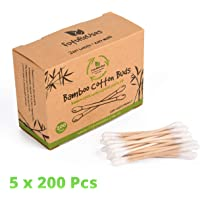 FutureUses® - 1000 Bamboo Cotton Buds - 5 x 200 Swabs - Eco Friendly Packaging - Biodegradable - Cleaning - Zero Waste Product - Q tips