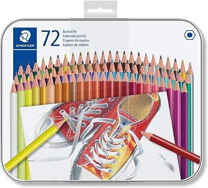 Image ofSTAEDTLER 175M72 ST Lápices de colores con forma hexagonal, Caja con 72 colores variados