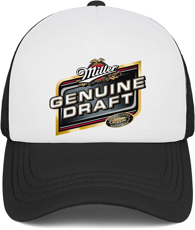 Cap Stylish Cowboy Hat Baseball Caps Denim Mens Womens Old-Miller-Lite-Logo