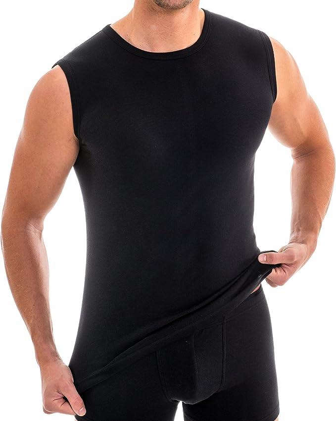 HERMKO 63040 Kit de 2 Camiseta sin Mangas Funcional para Hombre - Camiseta Deportiva y de Trabajo: Amazon.es: Ropa y accesorios